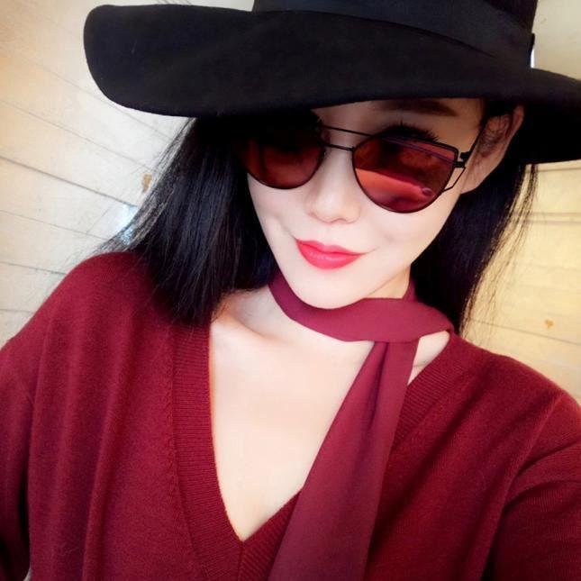 rouge lunettes femmes Beams miroir métal en vue de Mode Classic Twin IvHqgg
