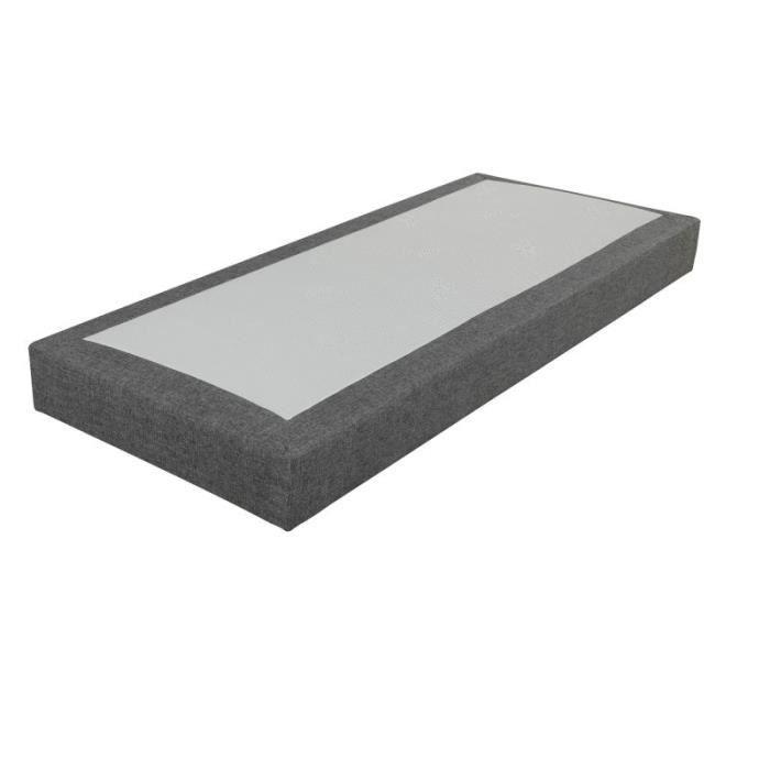 SOMMIER Sommier tapissier 80x200 SR18 gris