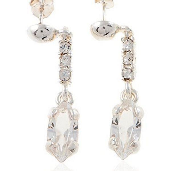 Boucles d oreilles plaqué argent insertion cristal pour femme - Idée cadeau femme bijou