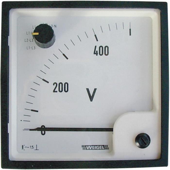 MESURE THERMIQUE Galvanomètre ferromagnétique avec sélecteur 0 à 50