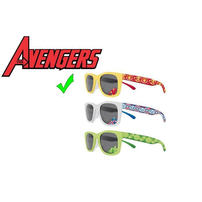 be7e762a9ecbc Lunette de soleil garçon Avengers Iron man couleur Jaune   Rouge - Officiel  Marvel