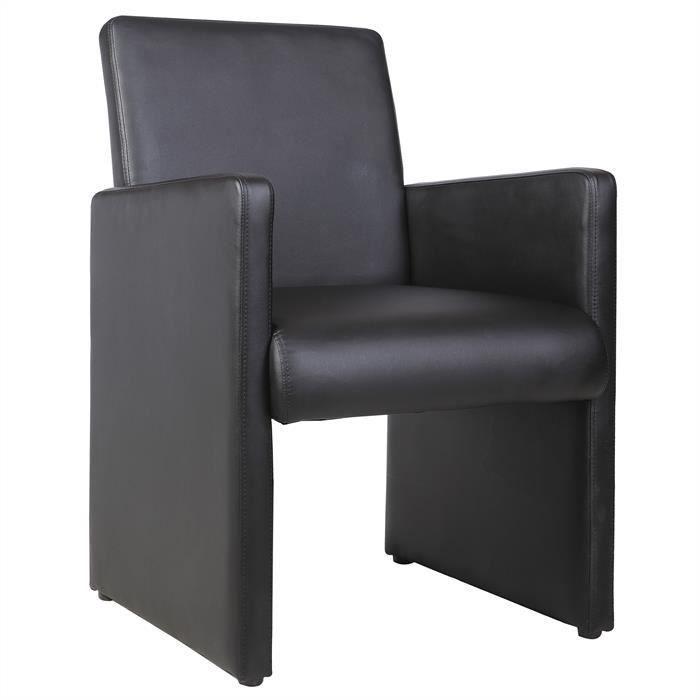 Fauteuil de salon confort TONY noir Achat Vente fauteuil Noir