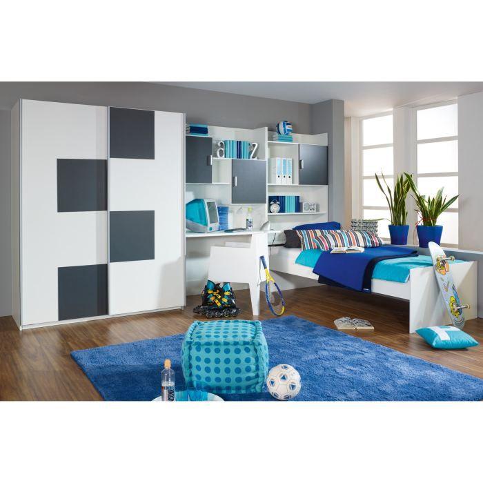 chambre enfant compl te andy avec tiroir lit achat vente lit complet chambre enfant compl te. Black Bedroom Furniture Sets. Home Design Ideas