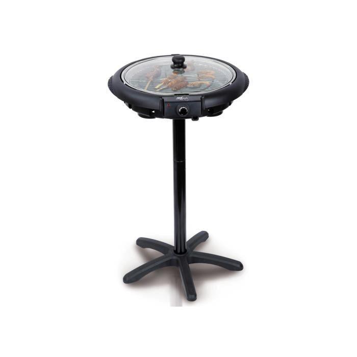 barbecue electrique sur pied avec couvercle - achat / vente