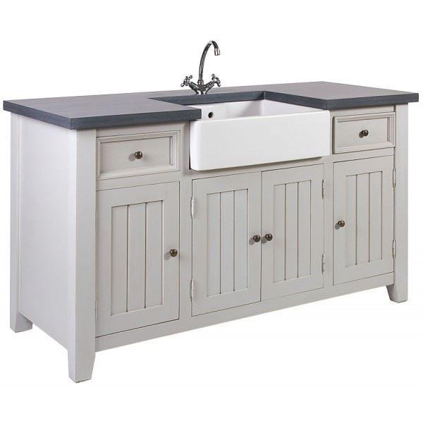 meuble sous vier savannah pin massif gris l achat vente elements bas meuble sous vier. Black Bedroom Furniture Sets. Home Design Ideas
