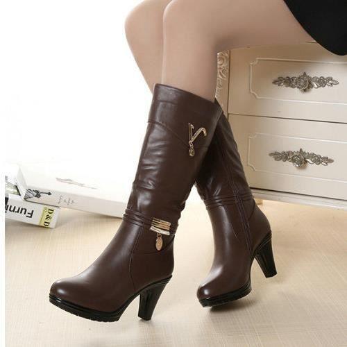 hiver femmes genou des bottes hautes longtemps ...