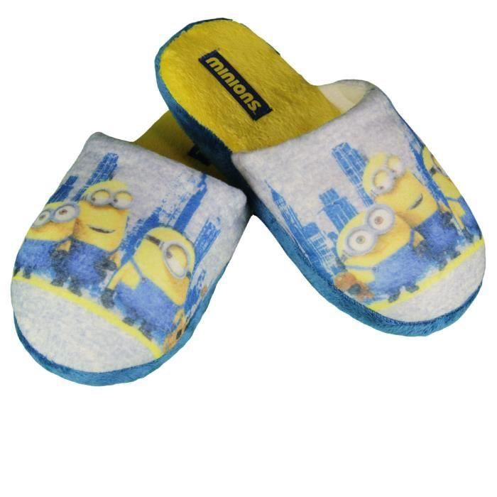 Minions - chaussons - garcon - gris