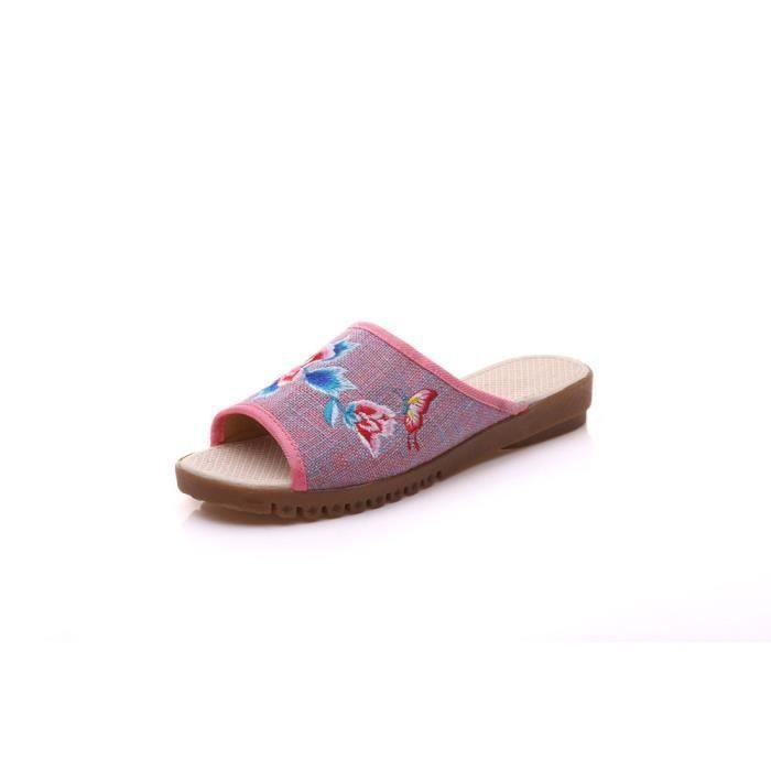 ec033ba29ce533 Femme Sandales Rose Vente Iztpserg Sandale Plates Achat ARqcj3L54