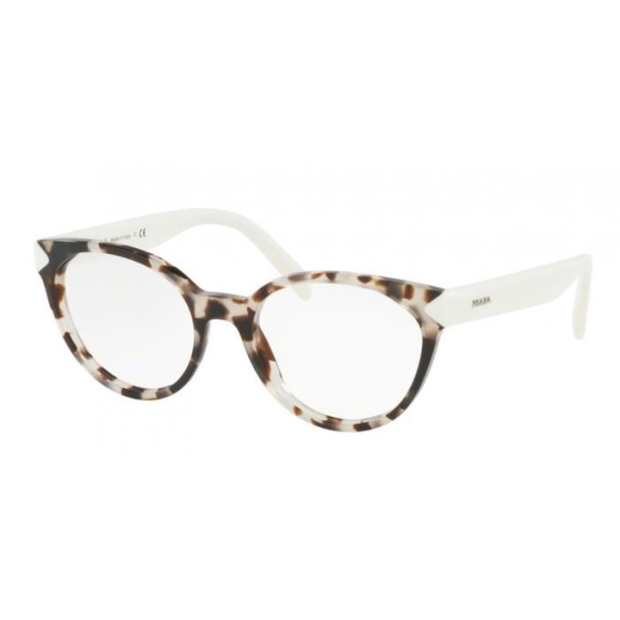 lunettes de vue femme prada pr01tv uao1o1 ecaille 51 18. Black Bedroom Furniture Sets. Home Design Ideas