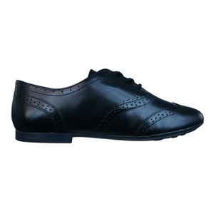 Geox J Pile A Cuir Filles lacent Chaussures Noir 9SaSumE