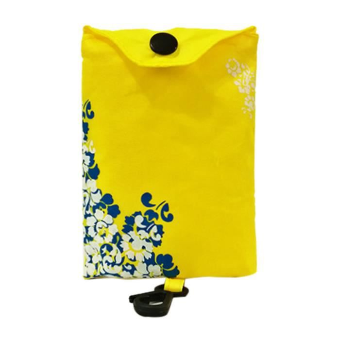 Fourre Poi 2867 tout Stockage Eco Sac Épicerie Nylon Voyage Pliable Réutilisable Sacs Jaune Shopping De En qPwaqr