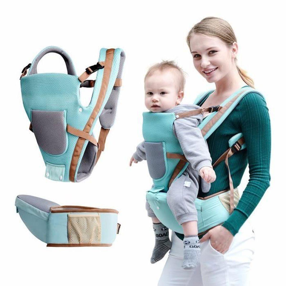 90d726acb8f Porte bébé ventral et dorsal Haute qualité Bleu – Confort
