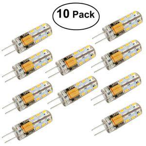 AMPOULE - LED LEORX 10pcs à économie d'énergie G4 AC DC 12V 2 Wa