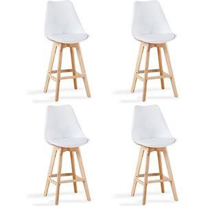 Lot de 2 chaises hautes blanches - Gotteborg - Achat   Vente ... 7d970763deb6