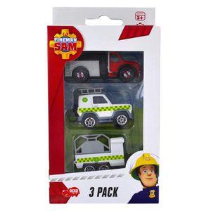 VOITURE - CAMION Set de 3 véhicules de secours Sam le pompier : Cam