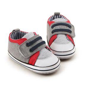 BOTTE Nouveau-né Infantile Bébé Filles Crib Chaussures Doux Semelle Anti-slip Sneakers Bandage Chaussures@GrisHM Gwwi8ybd