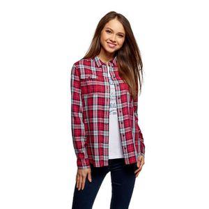 T-SHIRT Checkered Viscose T-shirt de la femme 1WBVKP Taill