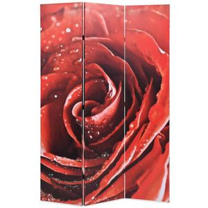 PARAVENT Cloison de séparation pliable 120 x 180 cm Rose ro