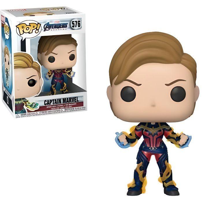 Figurine Funko Pop! Marvel : Endgame - Captain Marvel Nouvelle Coupe de Cheveux