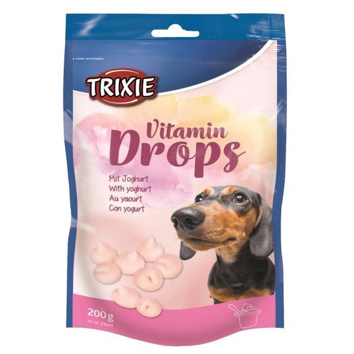 TRIXIE Pastilles Drops vitaminées au yaourt - Pour chien - 200g