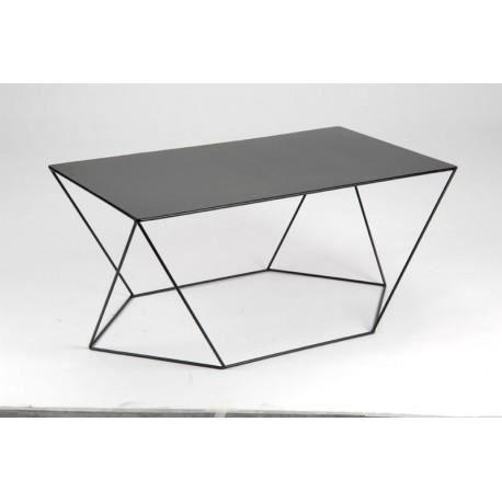 Table basse moderne en m tal noir twist amadeus achat for Table basse amadeus