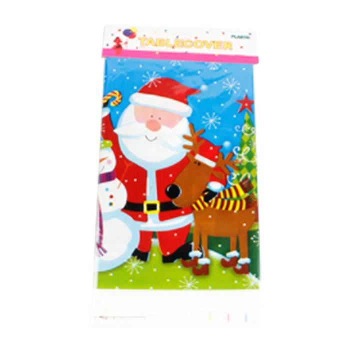 Noël Jetable Nappe Cartoon Père Noël Imprimée PVC Décor Table ...
