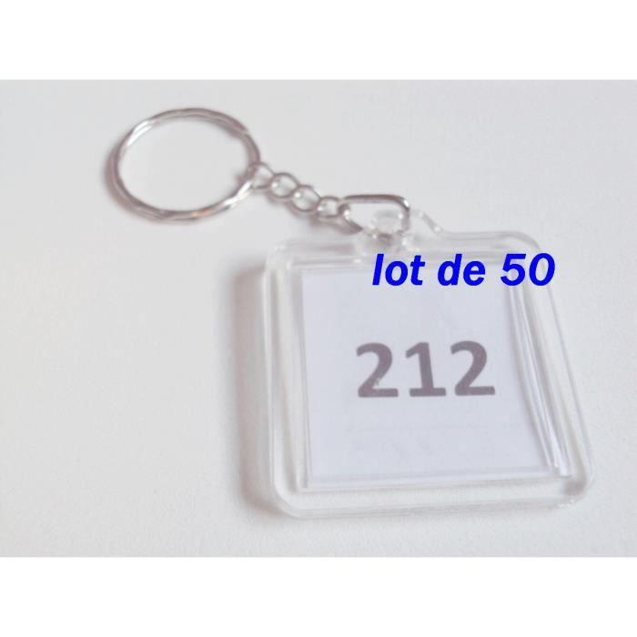 Lot De PorteClefs CARRE Plastique Transparent Achat Vente - Porte clé photo pas cher