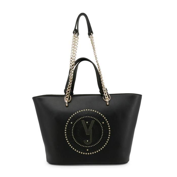 Sac à main noir Versace Jeans détail bandoulière Noir