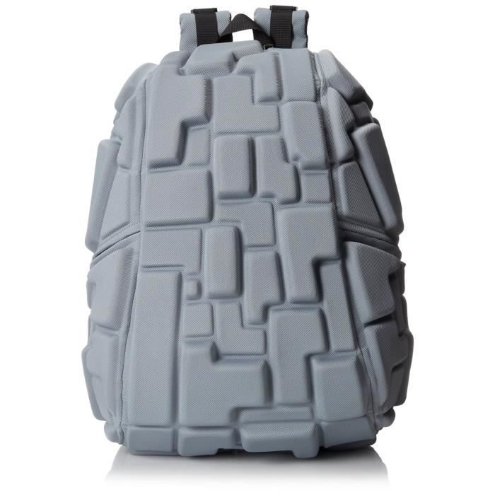 Sac à dos original 3D  Blok Full  de MadPax (46х35х20cm), Gris