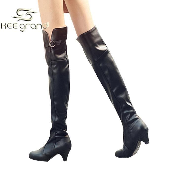 essayage de bottes cuissardes Bottes cuissardes noires - bottes noires zara taille  compensées noires jamais portées à part pour essayage  , je vends une paire de bottes en daim.
