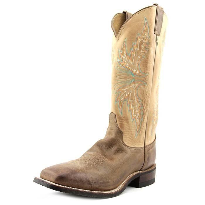 293aec4ad6a7e Justin Boots Puma Cowhide Boot Femmes Cuir Santiags Marron Marron ...