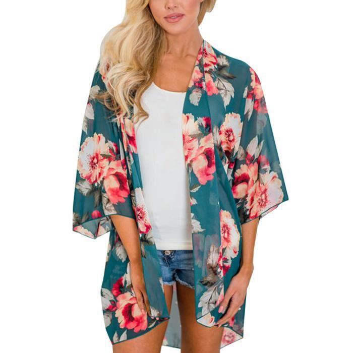 Rwq3535 Protection Mousseline nbsp;femmes De En Plage D'été nbsp; Ups Soleil Couverture Kimono Pachasky® Soie Floral HPw6qq