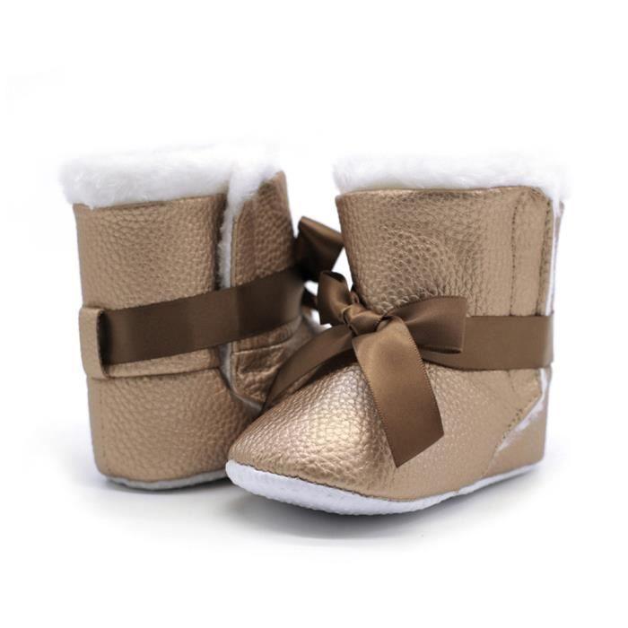 Enfant Crib Fille Bb Gar Nourrisson Rchauffement Chaussures kaki Neige De Bottillons Bowknot Doux Bottes on aOqHCOP