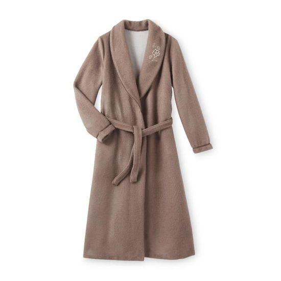 9fa78081ad4d3 Robe de chambre en molleton courtelle, col châle - Achat / Vente robe de  chambre - Soldes d'été Cdiscount