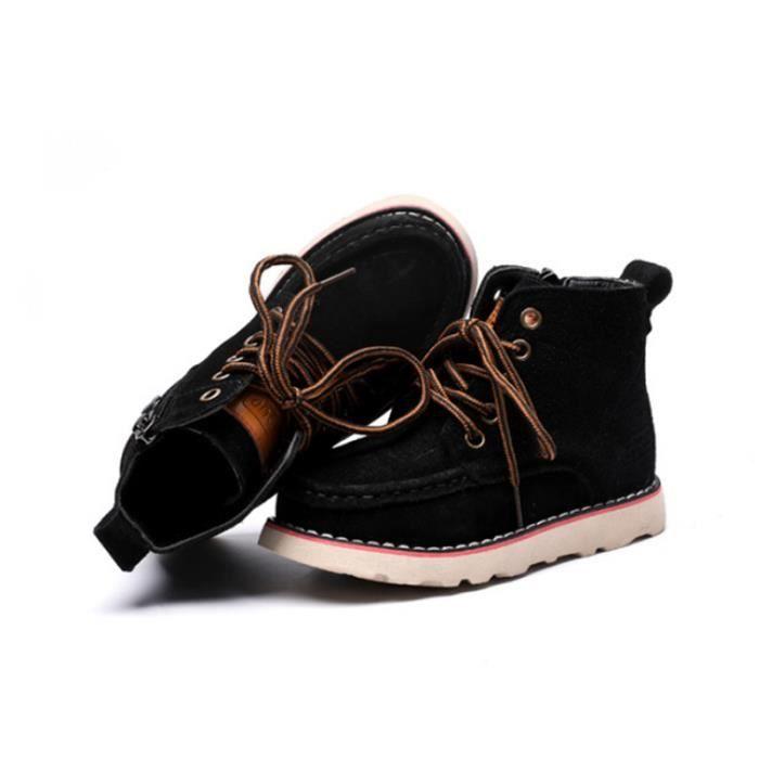 Populaire Hiver boots Enfants Pour Garçon Fille Martin Boots Gommage HZ-209noir34