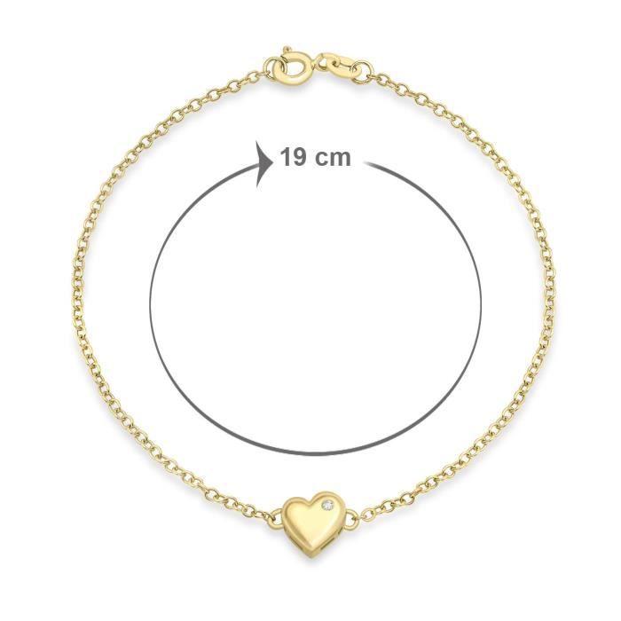 Bracelet - Femme - Or Jaune (9 Cts) 1.39 Gr - Diamant BQQWS