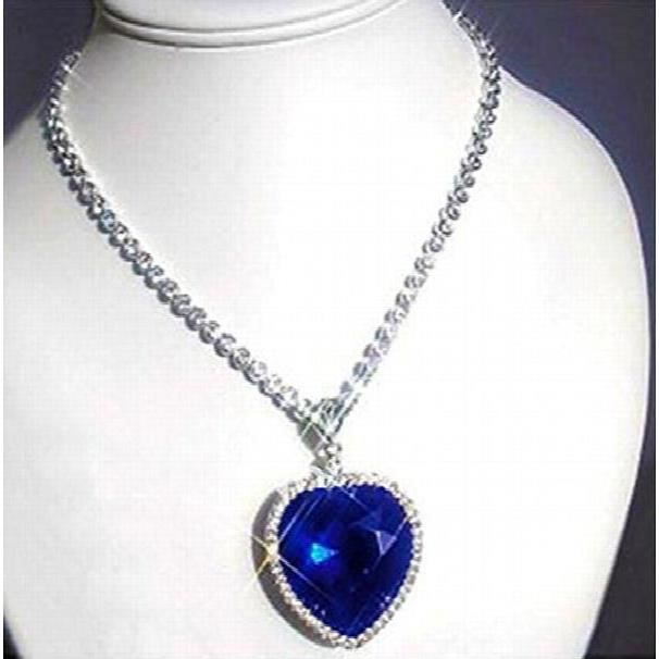 Womens Shining Diva The Famous Titanic Heart Of Ocean Pendant Necklace For &OM0NV