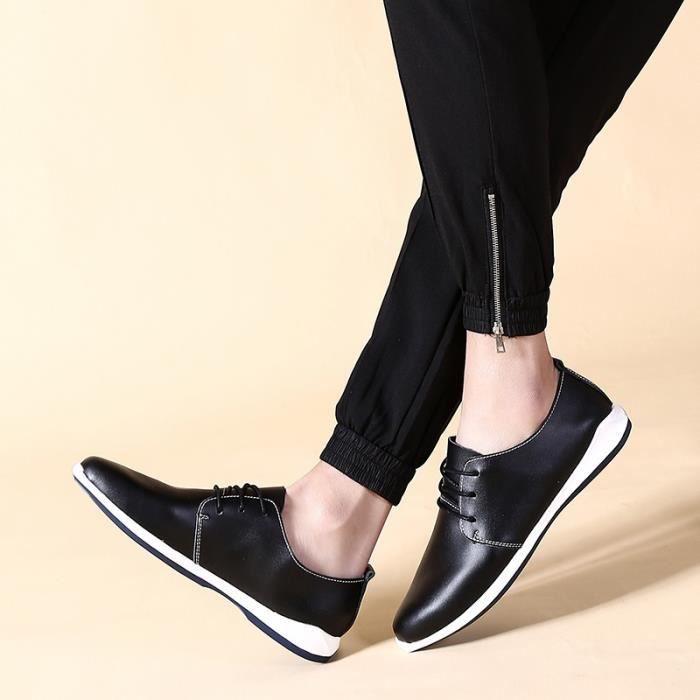 Mode de pour cuir bleu conduite noir Chaussures Taille homme en brun qSUzVGMp