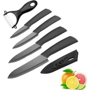 COUTEAU DE CUISINE  5pcs/Set Couteau en céramique , Ensembles de coute