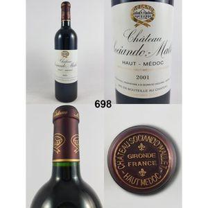 VIN ROUGE Château Sociando-Mallet 2001 - N° : 698, Haut-Médo