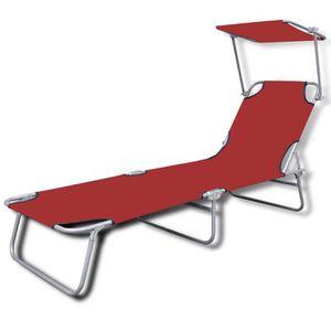 Transat pliable achat vente transat pliable pas cher for Chaise longue avec pare soleil pas cher