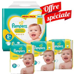 COUCHE Pack Jumeaux 416 Couches Pampers Premium Protectio
