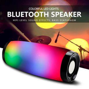 ENCEINTE NOMADE Haut-parleur sans fil Bluetooth LED boîte de Boom