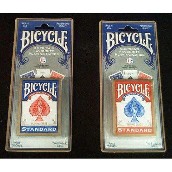 Carte Bicycle Cdiscount.2 Jeux De Cartes Bicycle Standard 1 Rouge Et 1 Bl Achat