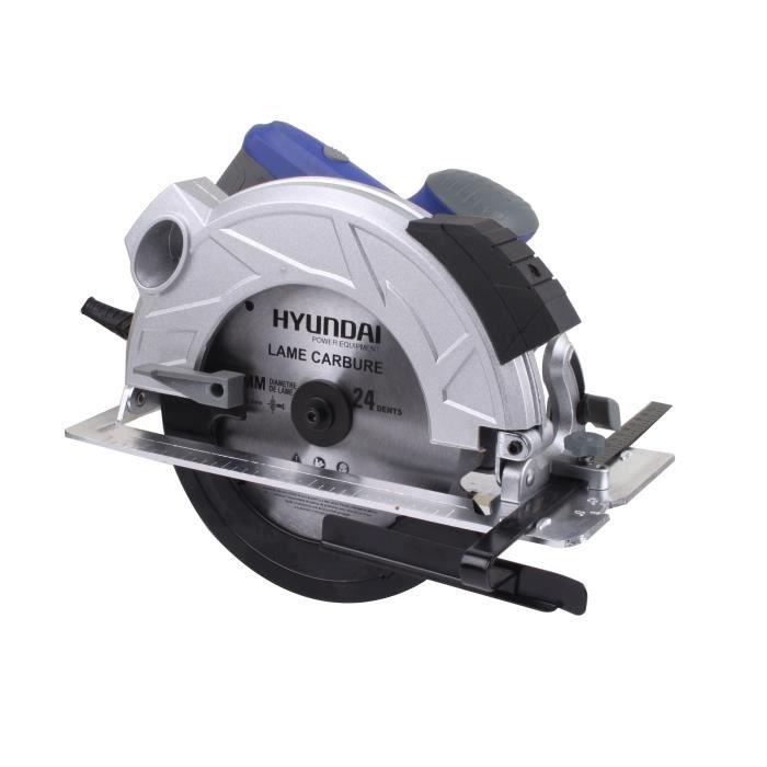 HYUNDAI Scie circulaire laser 1350 W avec 2 lames