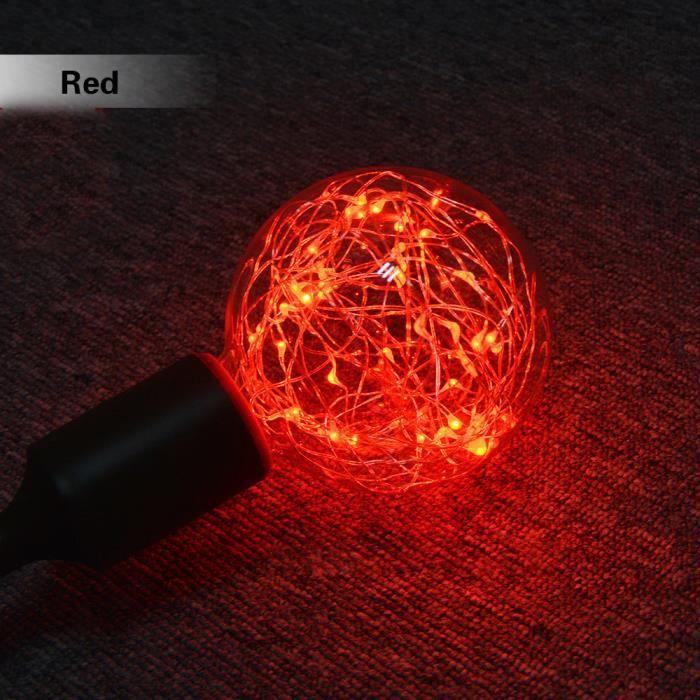Rouge Xmas Rouge De E27 love389 Beguin® Noël Party Ampoule Fée Starry Led 0wxq6zv