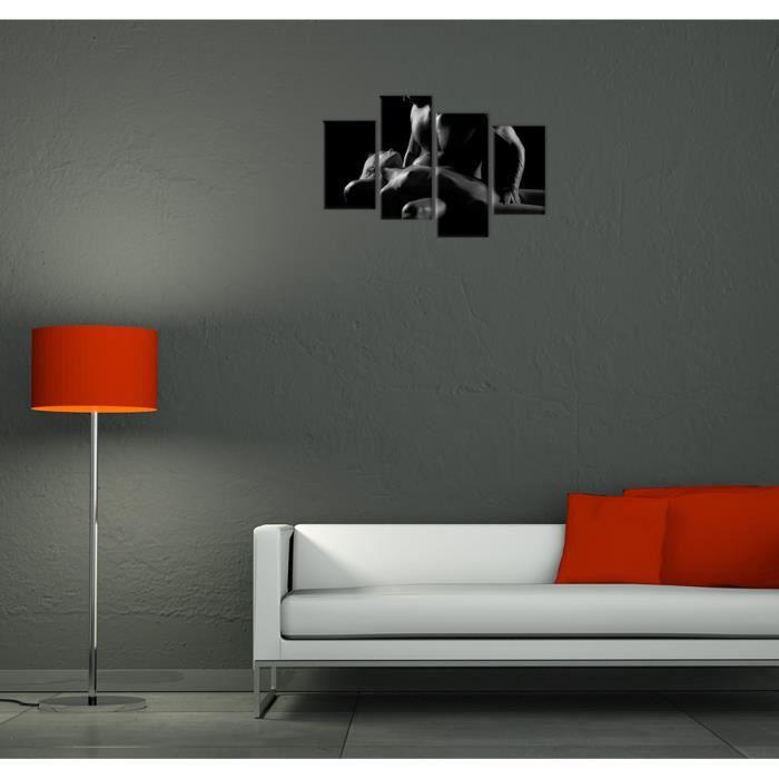 tableau couple noir et blanc achat vente pas cher. Black Bedroom Furniture Sets. Home Design Ideas