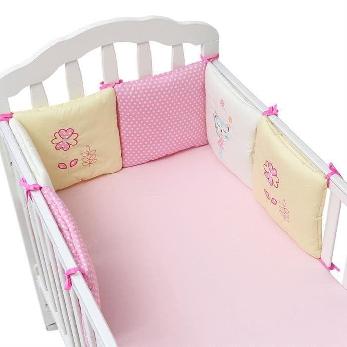 Jiyaru Tour de lit Bébé Protection Literie Enfant Coussin 6 Pièce 30 ...