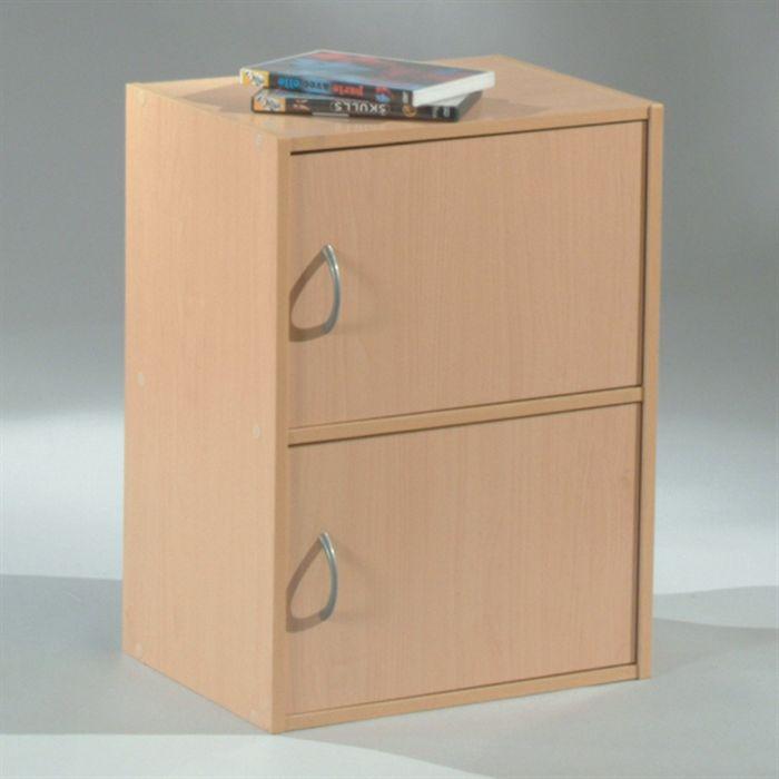Pe Meuble Rangement Cube 1212 2 Portes érable