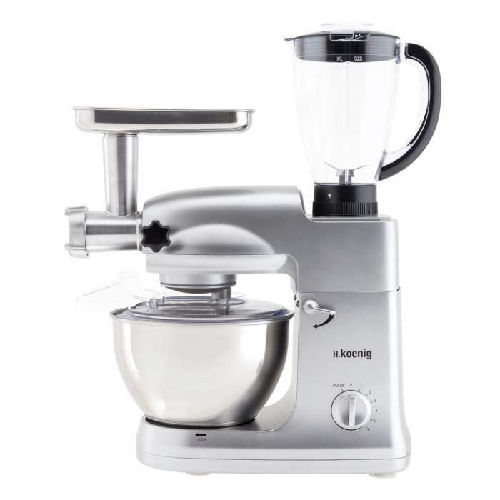 H koenig km68 robot petrin multifonctions 1000w achat for Robot cuisine multifonction leclerc